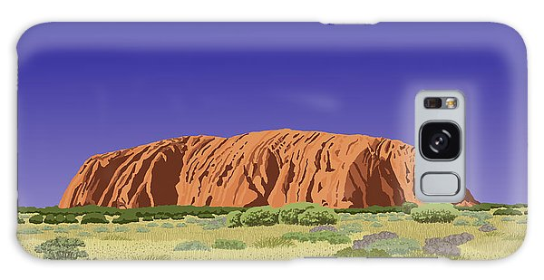 View Of Uluru / Ayers Rock Galaxy Case