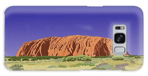 View Of Uluru / Ayers Rock Galaxy Case