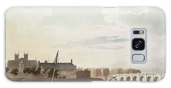 View Of Westminster And The Bridge Wc On Paper Galaxy Case
