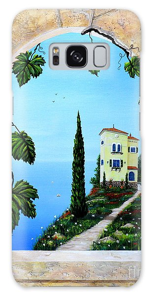 Villa By The Sea Galaxy Case