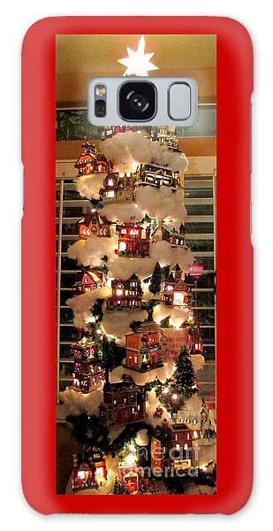 Village Christmas Tree Galaxy Case