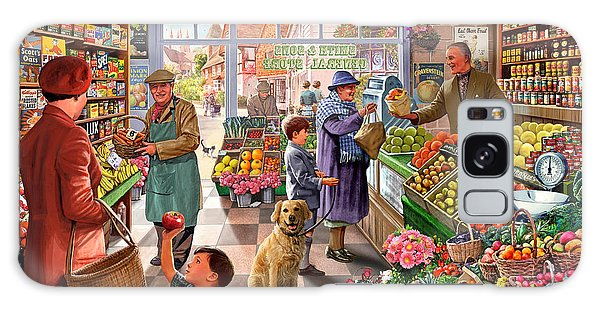 Shelves Galaxy Case - Village Greengrocer  by MGL Meiklejohn Graphics Licensing