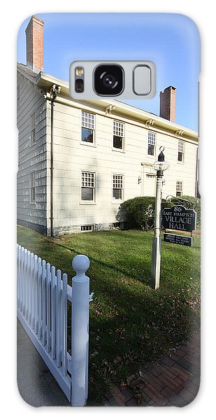 Village Hall East Hampton New York Galaxy Case by Bob Savage