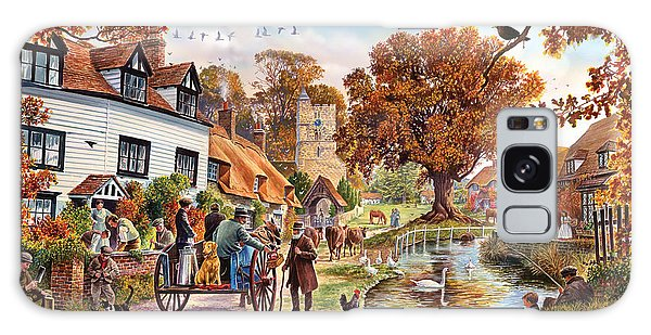English Countryside Galaxy Case - Village In Autumn by MGL Meiklejohn Graphics Licensing