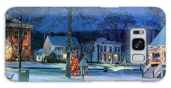 Village Of New Milford - Winter Panoramic Galaxy Case