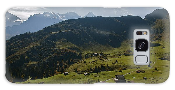 Village Of Spielbodenalp Switzerland Galaxy Case