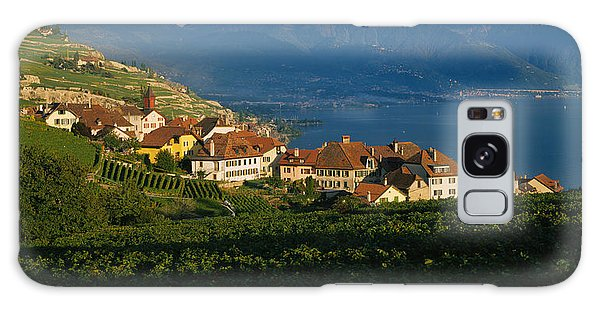 Lake Geneva Galaxy Case - Village On A Hillside, Rivaz, Lavaux by Panoramic Images