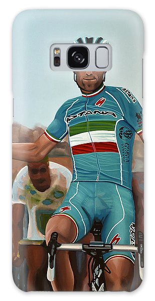 Vincenzo Nibali Painting Galaxy Case by Paul Meijering