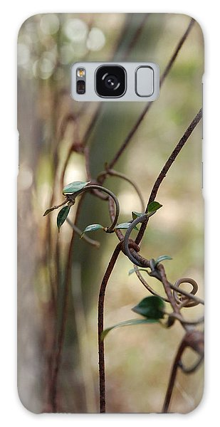 Vine On Rusted Fence Galaxy Case