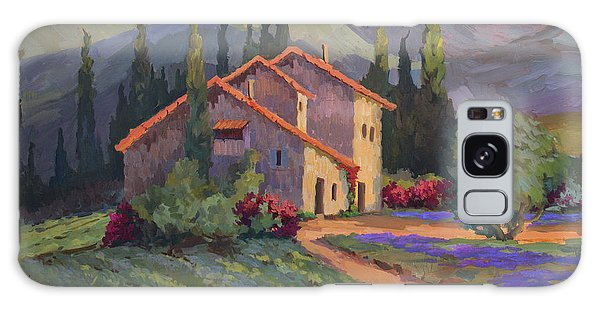 Vineyard And Lavender In Provence Galaxy Case