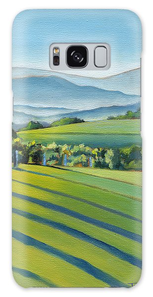 Vineyard Blue Ridge On Buck Mountain Road Virginia Galaxy Case by Catherine Twomey