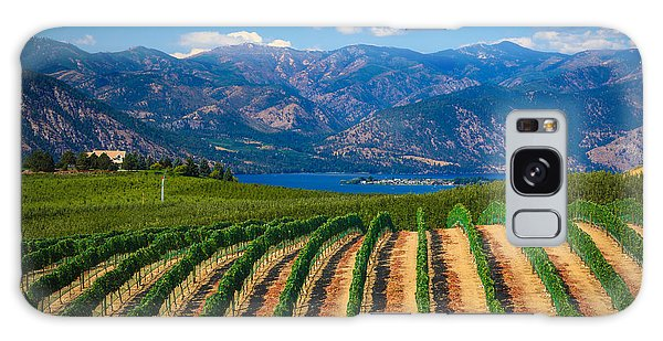 Vineyard In The Mountains Galaxy Case