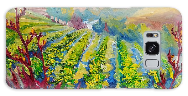 Vineyard Scene Oil Painting Galaxy Case