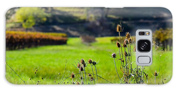 Vineyard Thistles Galaxy Case