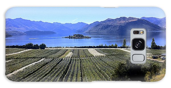 Vineyard View Of Ruby Island Galaxy Case by Venetia Featherstone-Witty