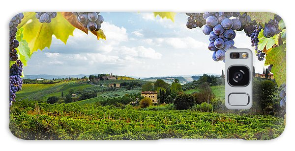 Vineyards In San Gimignano Italy Galaxy Case