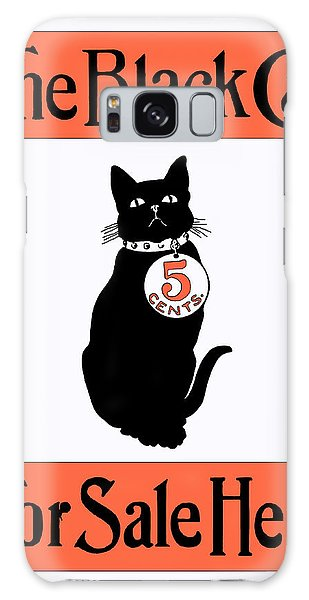 Galaxy Case featuring the digital art Vintage Advertisement For The Black Cat Magazine by Joy McKenzie