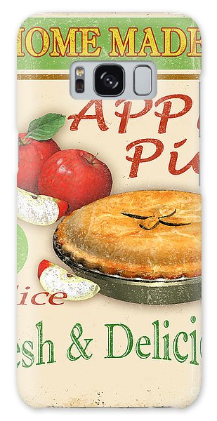 Vintage Apple Pie Sign Galaxy Case by Jean Plout