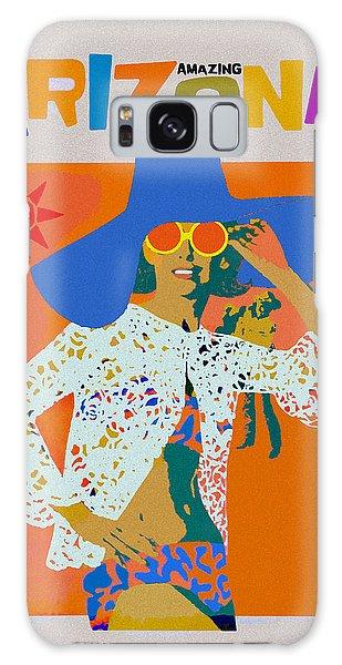 Galaxy Case featuring the digital art Vintage Arizona Travel Poster by Joy McKenzie