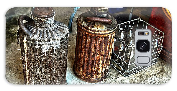 Hdr Vintage Art  Cans And Bottles Galaxy Case