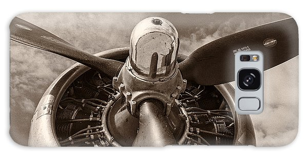 Airplanes Galaxy Case - Vintage B-17 by Adam Romanowicz
