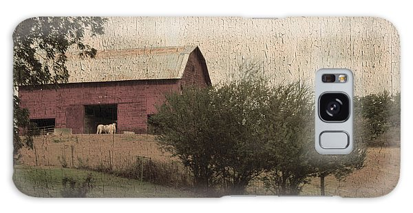Vintage Barn Scene Galaxy Case by Debra Crank