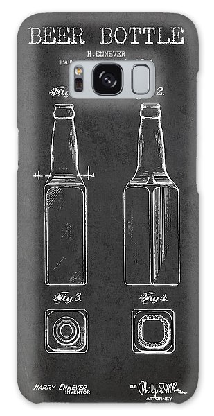 Patent Galaxy Case - Vintage Beer Bottle Patent Drawing From 1934 - Dark by Aged Pixel