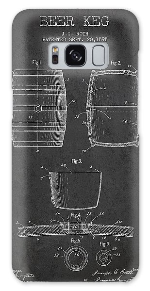 Beer Galaxy S8 Case - Vintage Beer Keg Patent Drawing From 1898 - Dark by Aged Pixel