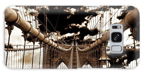 Vintage Brooklyn Bridge Galaxy Case by John Rizzuto