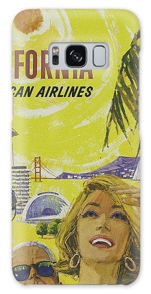 Galaxy Case featuring the digital art Vintage California Travel Poster by Joy McKenzie