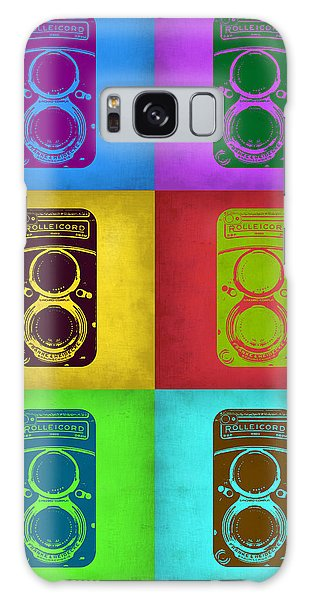 Vintage Camera Galaxy Case - Vintage Camera Pop Art 2 by Naxart Studio