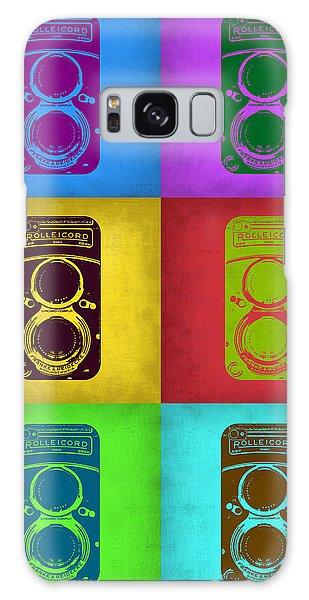 Vintage Camera Galaxy Case - Vintage Camera Pop Art 2 by Naxart Studio