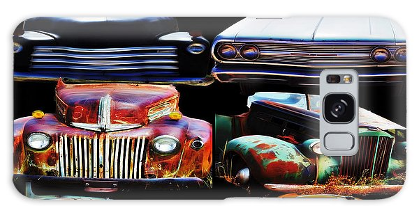 Vintage Cars Collage 2 Galaxy Case by Cathy Anderson