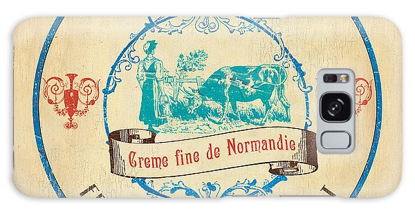 Vintage Cheese Label 3 Galaxy Case