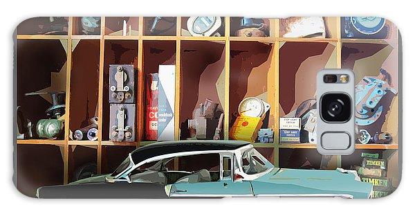 Vintage Chevy Belair With Retro Auto Parts Galaxy Case