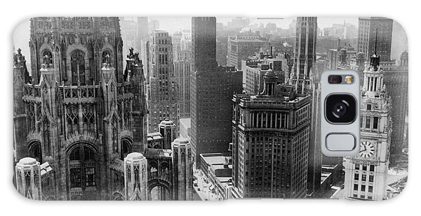 Sears Tower Galaxy Case - Vintage Chicago Skyline by Horsch Gallery