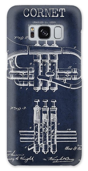 Cornet Patent Drawing From 1901 - Blue Galaxy Case