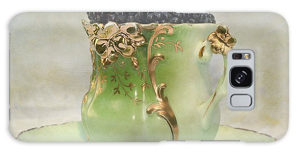 Vintage Cup O Berries Galaxy Case by Kathleen Holley