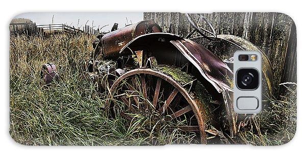 Vintage Farm Tractor Color Galaxy Case by Theresa Tahara