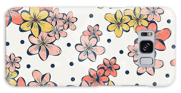 Flora Galaxy Case - Vintage Flower Pattern Print For by Studio K