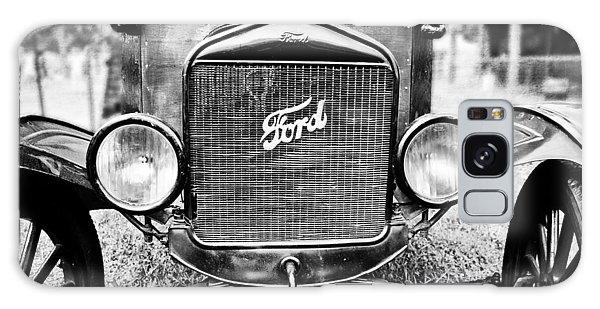 Vintage Ford In Black And White Galaxy Case by Colleen Kammerer