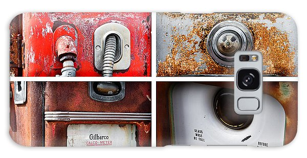 Vintage Fuel Pumps Collage Galaxy Case by Lawrence Burry