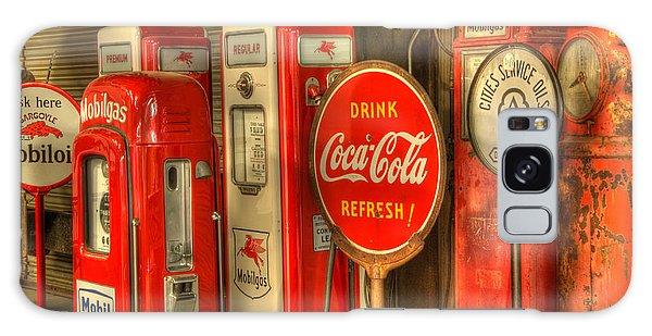 Vintage Gasoline Pumps With Coca Cola Sign Galaxy Case