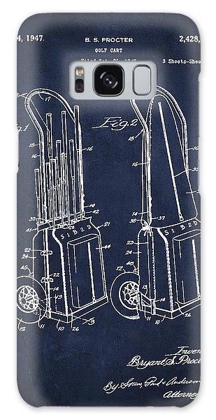Cart Galaxy Case - Vintage Golf Cart Drawing From 1943 by Aged Pixel