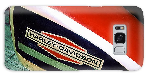 Vintage Harley Davidson Gas Tank Galaxy Case by Beverly Stapleton