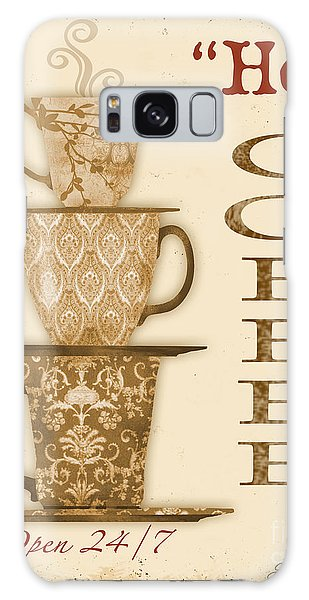 Vintage Hot Coffee Sign Galaxy Case by Jean Plout