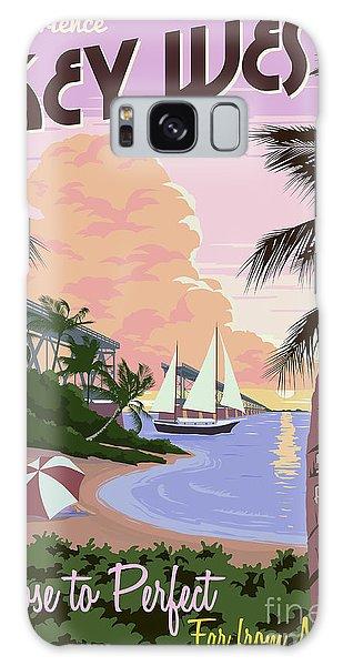Travel Galaxy Case - Vintage Key West Travel Poster by Jon Neidert