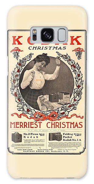 Vintage Camera Galaxy Case - Vintage Kodak Christmas Card by Edward Fielding