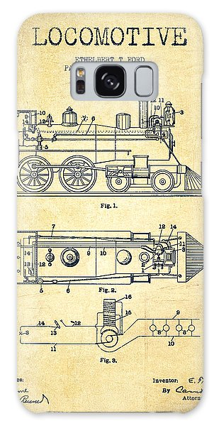 Train Galaxy Case - Vintage Locomotive Patent From 1904 - Vintage by Aged Pixel