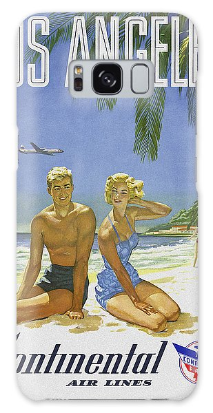 Galaxy Case featuring the digital art Vintage Los Angeles Travel Poster by Joy McKenzie